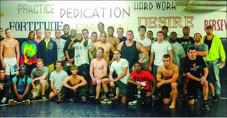 "Power — Liberty wrestlers were no longer seen as Jacobs — ""Graspers of Heels"" — after the 24-hour training. Photo provided"