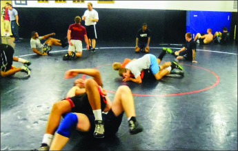 Tap out — Wrestlers underwent a 20-minute grind match at the 23-hour mark. Photo provided