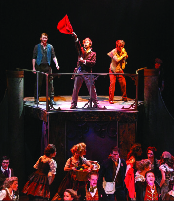 ART —Les Miserables takes viewers on a journey to19th-century France and gives a fictional taste of the real-life uprising in Paris in 1832. Photo credit: Ruth Bibby