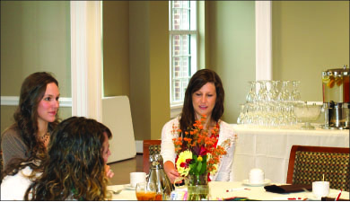 Dine — Military spouses got the chance to encourage one another over lunch. Photo provided