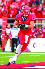 TOUCHDOWN — Brandon Apon strides into the endzone. Photo credit: Courtney Russo