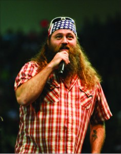 Happy — Willie Robertson drew a huge audience to the College for a
