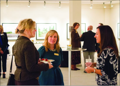 networking — Local business women socialize with each other over refreshments. Photo credit: Hannah Lipscomb