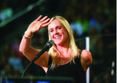 Motivate — Hamilton spoke about her faith and family. Photo credit: Ruth Bibby