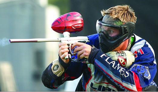 Ready, aim, fire — According to Head Coach Todd Hoglund, Liberty has had four teams before, but Saturday was the first time they fielded five teams of players. Photo credit: Ruth Bibby