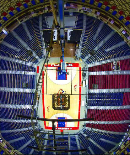 basketball — Schofer has been capturing the beauty of Liberty's campus since 1973. Photo credit: Les Schofer