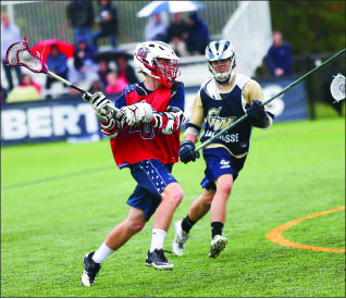 Locked in —  A Liberty player winds up for a shot. Photo credit: Ruth Bibby