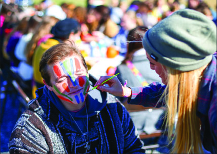 Students were given the opportunity to have their faces painted. Photo credit: Ruth Bibby