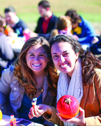 Pumpkins were offered free to students. Photo credit: Ruth Bibby