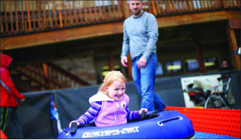 TUBING — Many toddlers enjoyed their Saturday on the slopes.  Photo credit: Ruth Bibby