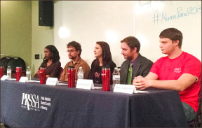Homecoming — Alumni share career advice with students. Photo credit: Melanie Oelrich