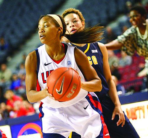 KEY CONTRIBUTOR - Sadalia Ellis had a career night in her first start at Liberty