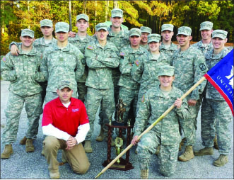 ARMY STRONG — Liberty's ROTC ranger challenge team poses with its trophy. Photo provided