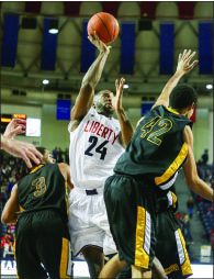 Recovery — Burrus returned for the Flames. Photo credit: Ruth Bibby