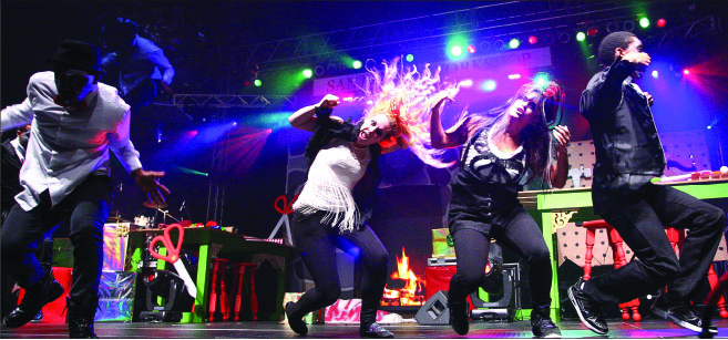 LIVE PerfoRmance — Students are given the chance to showcase their talents on the Vines Center stage through biannual shows. photo credit: Ruth Bibby