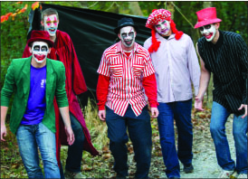 Clowntown — The Scaremare staff hopes the event will grow. Photo credit: Ruth Bibby