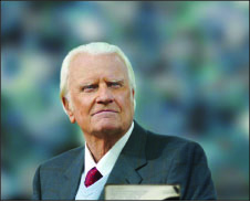 INSPIRATION — Graham continues his ministry after more than 70 years of evangelism. Google Images