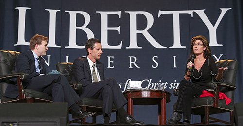 Liberty hosts Sarah Palin at Convocation