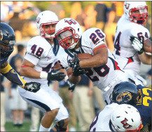 "Desmond Rice carries the ball for ""Another Liberty First Down"""