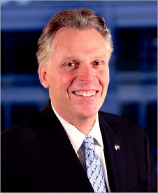 SWORN IN — McAuliffe began his first term Jan. 11. Google Images