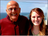 movies — Mintle poses with Engle near the Santa Monica Pier. Photo provided