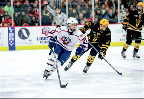 ICED — Arizona State gave Liberty more than they could handle in a two-game sweep at the LaHaye Ice Center. Photo credit: Courtney Russo
