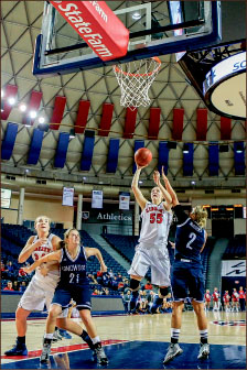 Height — Liberty used its size to score points. Photo credit: Courtney Russo