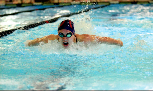 progress — The swimming and diving team looks to build on its current success with a strong perfomance at the Davidson Duals Jan. 31-Feb. 1. Photo credit: Courtney Russo