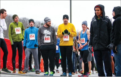 frigid — The difficult course paired with the cold challenged runners at every stage. Photo credit: Leah Stauffer