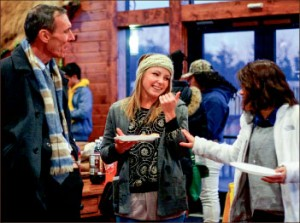 socializing — Guests participated in outdoor winter activities and indoor games while settling in and learning about the new culture. Photo credit: Leah Stauffer