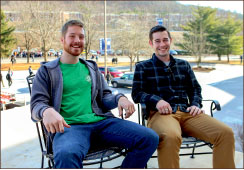 LAUGH — Sjolinder and Deibert hope to share the gospel. Photo credit: Courtney Russo