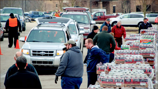 HELP — TRBC members come together to help the civilians of West Virginia have fresh water for drinking. Photo provided