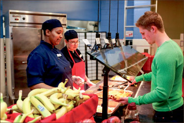 HEALTH — Sodexo encourages students to make smart eating choices. Photo credit: Courtney Russo