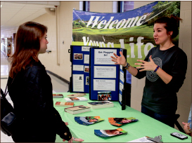 JOIN — Tables line the DeMoss hallway promoting clubs. Courtney Russo