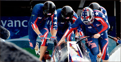 repeat — America looks to retain its title as the best four-man bobsled team in the world. Google Images