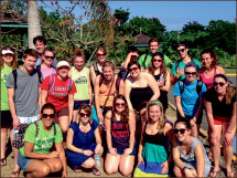 mission — Education students traveled to Jamaica to teach in the city of May Pen. Photo provided