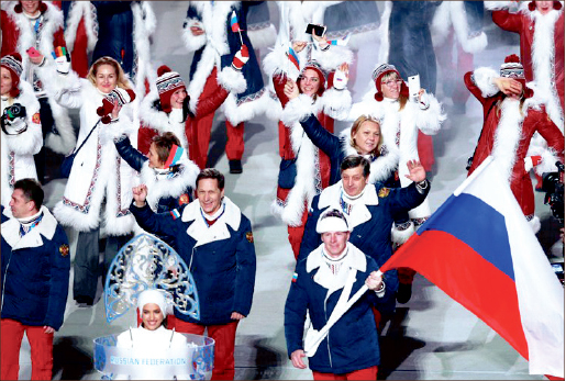 making their nation proud — Russia took the crown as the top nation in the Winter Games. Wikimedia