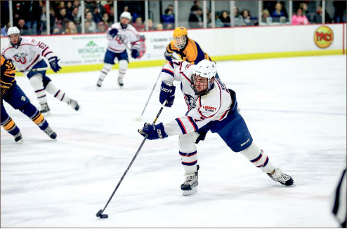 Momentum — Liberty capped off a weekend sweep of West Virginia with a 3-2 overtime victory Saturday night. Photo credit: Courtney Russo