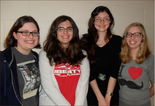 culture — Elizabeth Brownd, Jessika Sams, Shannon Rutledge and Kaylee Akers are missionary kids at Liberty. Photo provided