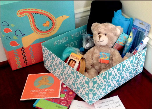 COMFORT — Fear 2 Freedom works to provide kits, like the one above, for victims of sexual assault. Photo provided