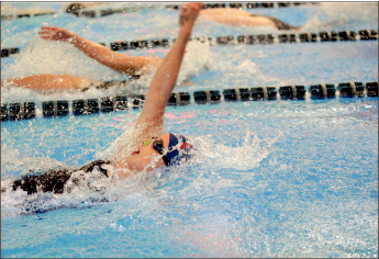 History — Emillie Kaufman and Jess Reinhardt broke program records. Photo credit: Ruth Bibby