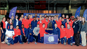 history — The men's team celebrated its 17th straight conference title. Photo provided