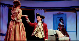 "fun — ""The Rivals"" is a comedy based on the author's efforts to court his wife. Photo credit: Courtney Russo"