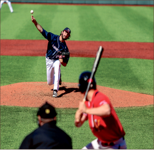 Blanks — The Flames pitching staff has shut out Big South opponents in 60 straight innings. Photo credit: Leah Stauffer