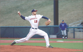 ace — Trey Lambert leads the Flames with an 8-1 record and a 2.27 ERA. Photo credit: Courtney Russo
