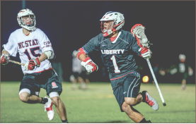 Raining goals — Liberty scored a combined 27 goals in its two weekend victories over N.C. State and Auburn. Photo credit: Leah Stauffer