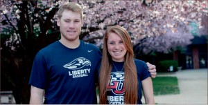 Family matters — After transferring from Louisville, Ryan followed his younger sister, Holly, to Liberty. Photo credit: Dale Carty II