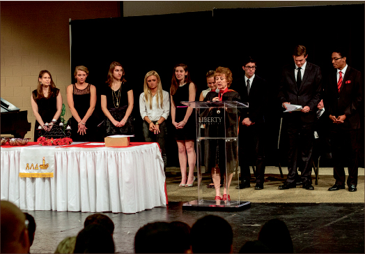 invited — Each new member of ALD was personally invited to be a part of the honor society. Photo credit: Dale Carty II
