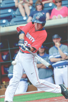 SWING — Liberty used late-inning offense to beat the Bulldogs. Photo credit: Courtney Russo