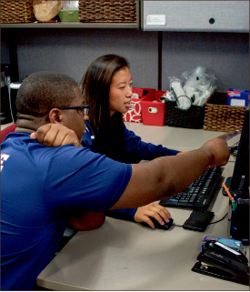 Brains and brawn — Student athletes receive private tutoring. Photo credit: Hannah Lipscomb